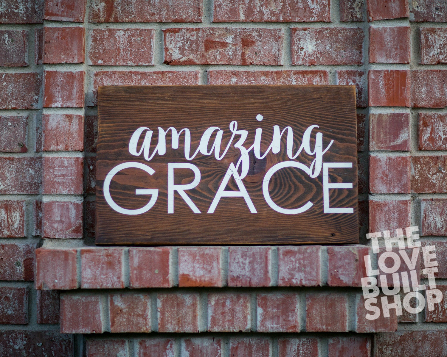 Home Decor Rustic Christian Amazing Grace Wood Sign Gift For