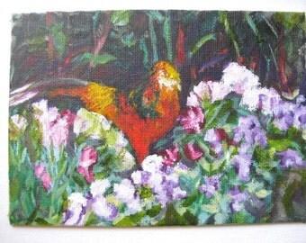 original oil painting of pheasant