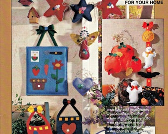 That Felt Good - Felt Pattern Book, Felt Decorations, DIY Patterns, Ornaments Patterns, home Decor Patterns, Felt Crafting Patterns