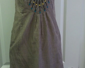 Boho chic strapless & cottony SUMMER DRESS - size 8