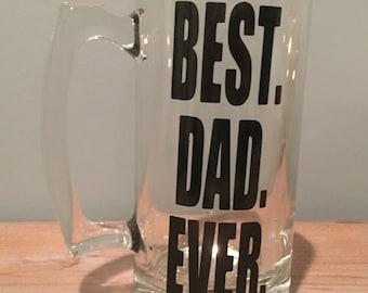 Best Dad Ever Beer Pilsner | Beer Mug Glass