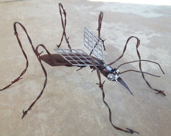 Recycled Metal Mosquito Sculpture