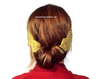 Golden crochet headband