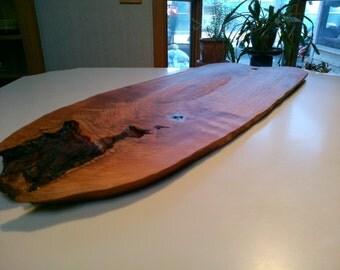 Bread Board, Cherry Wood Cutting Board, Natural Edge