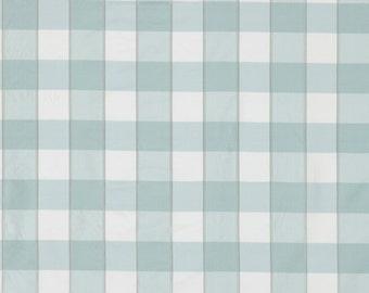 SCALAMANDRE CHELSEA SILK Check Fabric 10 Yards Aquamarine