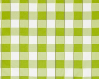 SCALAMANDRE CHELSEA SILK Check Fabric 10 Yards Pear Green