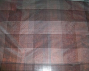 LEE JOFA G P & J Baker GRAPHIS Silk Sheer Check Fabric 21 Yard Bolt Gray Off-White