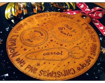 Personalised Christmas Eve Wooden Plate