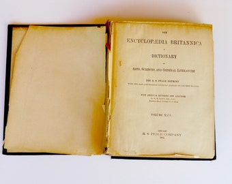 Antique 1892, Encyclopedia Britannica, Dictionary of Arts, Science and General Literature With New Maps, Vol XXIV,  R.S.Peale Company