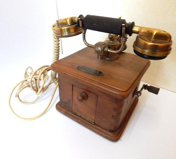 Antique French Telephone With Mother In Law By Huntersofvintage
