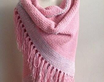 light pink shawl