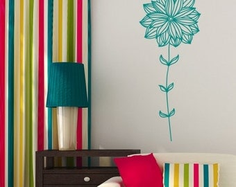 Wall decal Dainty Flower, Flower wall sticker, Vinyl wall sticker, Wall stencil, Wall decor
