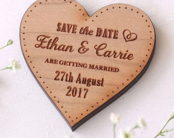 Save The Date Magnets, Personalised Wedding Save The Date Magnets, Wooden Save The Date, Save The Date