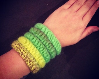 Knitted Bangle Bracelets