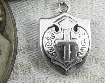 1 (or 10) Shield Silver Charms, SFF003