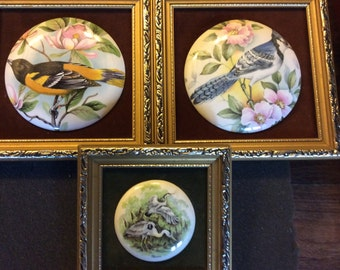 Set of 3 Hand-made English Staffordshire Ceramic Miniatures