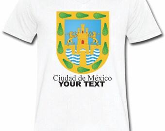 Cd. De Mexico Mexico T-shirt V-Neck Tee Vapor Apparel with a FREE custom text(optional)