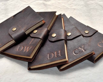 Leather journal with Monogram for Groomsmen Gifts,  Personalized  journal/notebook,Wedding Mementos,gift for him (free Initials )