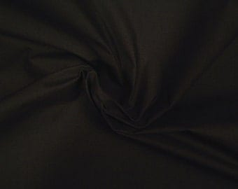 Waxed cotton fabric dark brown by the metre waterproof
