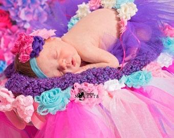 Newborn Photo Prop, Tutu Basket, Dorm Decor, Storage Basket, Toys Basket, Nursery Organizer, Home Decor, Party Decorations, Wedding Baskets