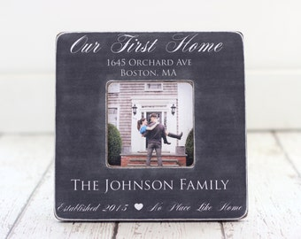 First Home Housewarming Gift Personalized Picture Frame Newlyweds Home Owners Custom Gift