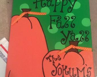 Happy Fall Yall Canvas