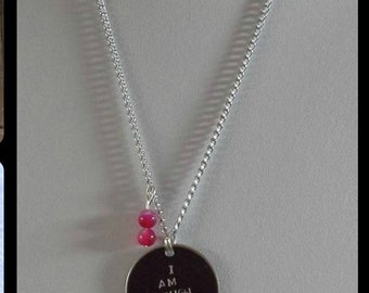 I am enough empowerment necklace