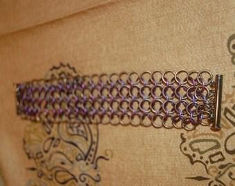 Chain Maille. Anodized Titanium 4 in 1 bracelet