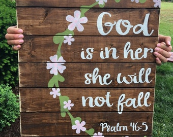 Nursery decor, psalms 46:5