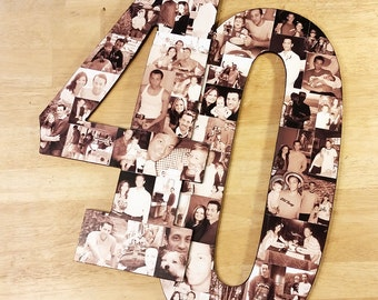 Photo Collage, Number Photo Collage, Photo Collage Number, Custom Photo Collage, Collage, Personal Photo Collage, Custom Photo Letters