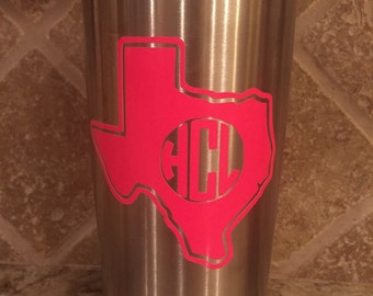 """Monogram Yeti Cup Decal (approx 3.5"""")"""