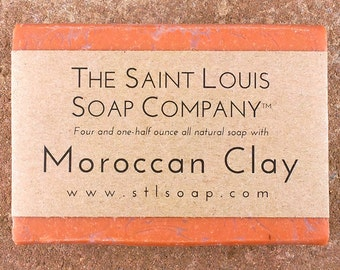 Moroccan Clay Soap – Vegan Soap, Fragrance Free Soap, All Natural Soap, Hand Made Soap, Clay Soap, Moroccan Soap