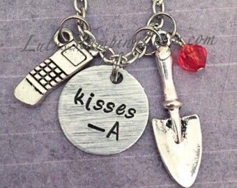 "Pretty Little Liars ""Kisses A"" inspired Necklace - Pretty Little Liars Jewelry - PLL Jewelry - Fandom Jewelry"