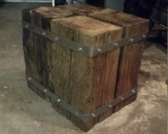 Railroad Tie Bench or End Table