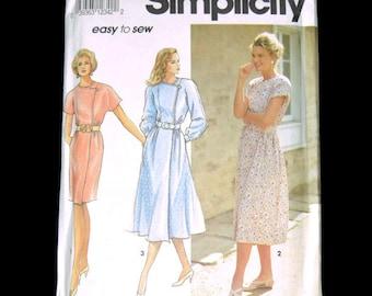 Uncut Simplicity Pattern 7754 Dress Slim or Full Skirt 8-14 KK Patron Vintage Sewing Pattern