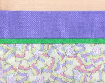 Easter Pillowcase, Easter Bunny Pillowcase, Easter Gift, Standard or Queen Pillowcase, Easter Egg and Bunny Pillowcase