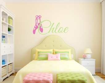 Personalized Name Ballet Dance Wall Decal Sticker