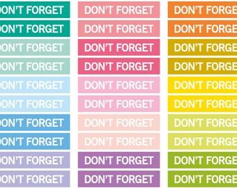 Don't forget Heading stickers, planner header stickers, planner stickers, agenda notebook journal sticker, eclp filofax happy planner kikkik