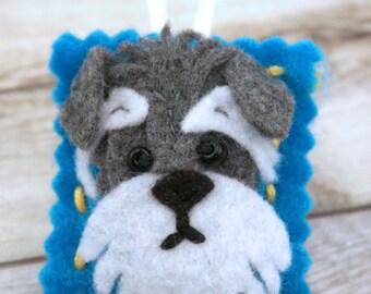 Custom Felt Dog Ornament