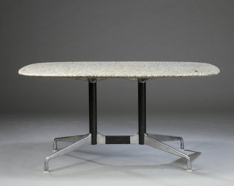 Vintage Charles and Ray Eames granite top segmented table for Vitra