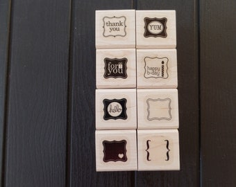 Pretty Petites Retired Stampin' Up Sale-A-Bration Stamp Set, Wood-Mount
