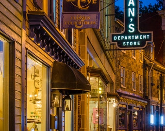 Main Street Stores in Ellicott City - Maryland - USA - Landscape - Fine Art Print