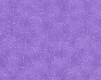 Essential Swirls- Purple Hearts - 100% Cotton