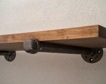 Industrial Shelf Brackets, Steampunk Shelf Brackets, Pipe Shelf Brackets, Industrial Decor