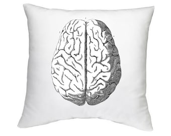 BRAINS HALLOWEEN PILLOW,Insert Included,Steampunk
