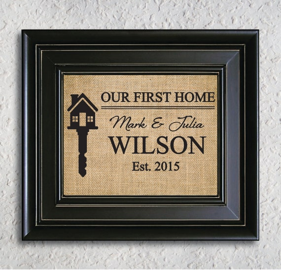 Our First Home Personalized Housewarming Gift Our First Home