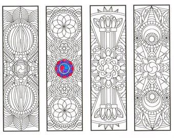 Coloring Bookmarks Book Bundle 15 Printable Adult