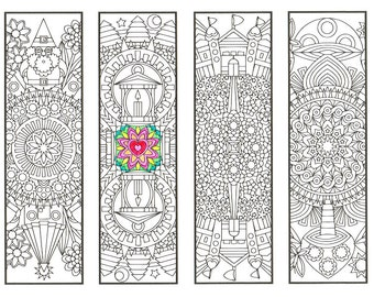Coloring Bookmarks Coloring Book Bundle 15 printable adult