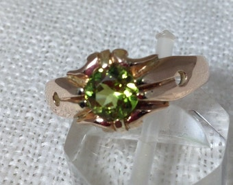 Victorian Peridot Ring Set in 9k Rose Gold