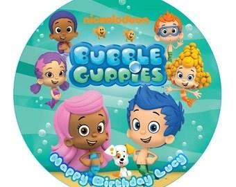 Bubble Guppies Cake Decorations Etsy Au